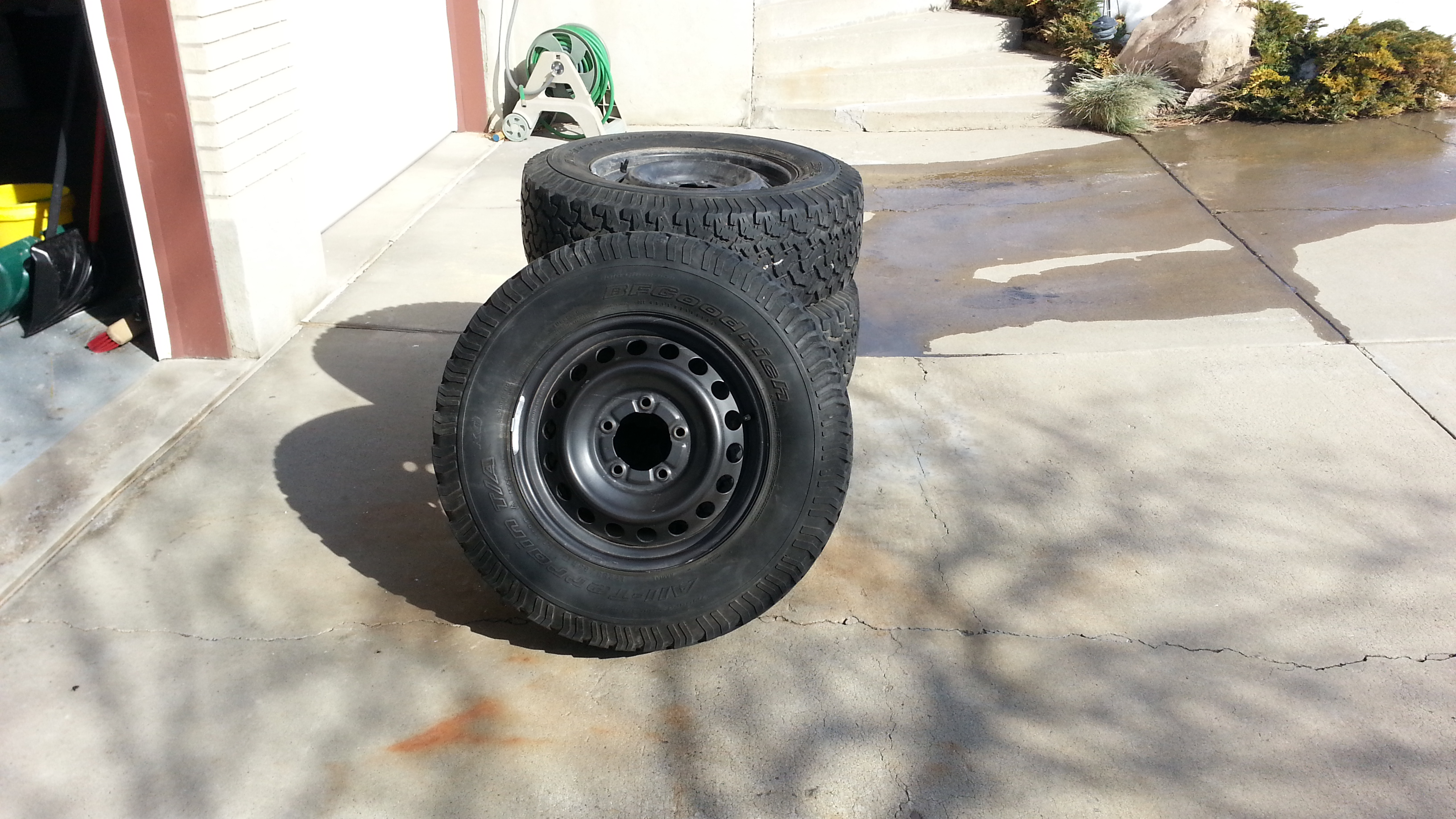 For Sale - 4- Tundra/100 Steel Wheels w/ used BFG ATs, SLC ...